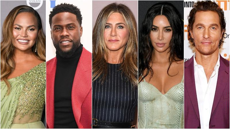 How Jennifer Aniston, Taylor Swift, Justin Theroux, the Kardashians and More Celebrated Thanksgiving