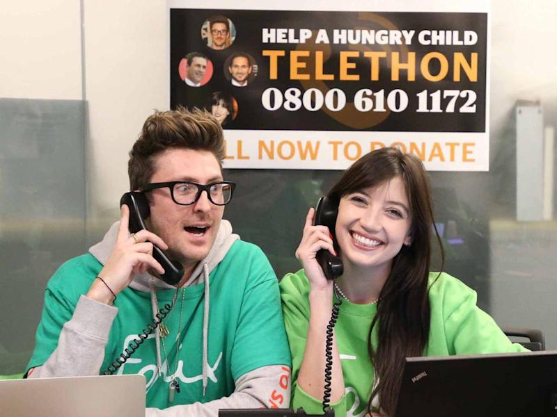 Henry Holland and Daisy Lowe at the Help A Hungry Child Telefon (NIGEL HOWARD ©)