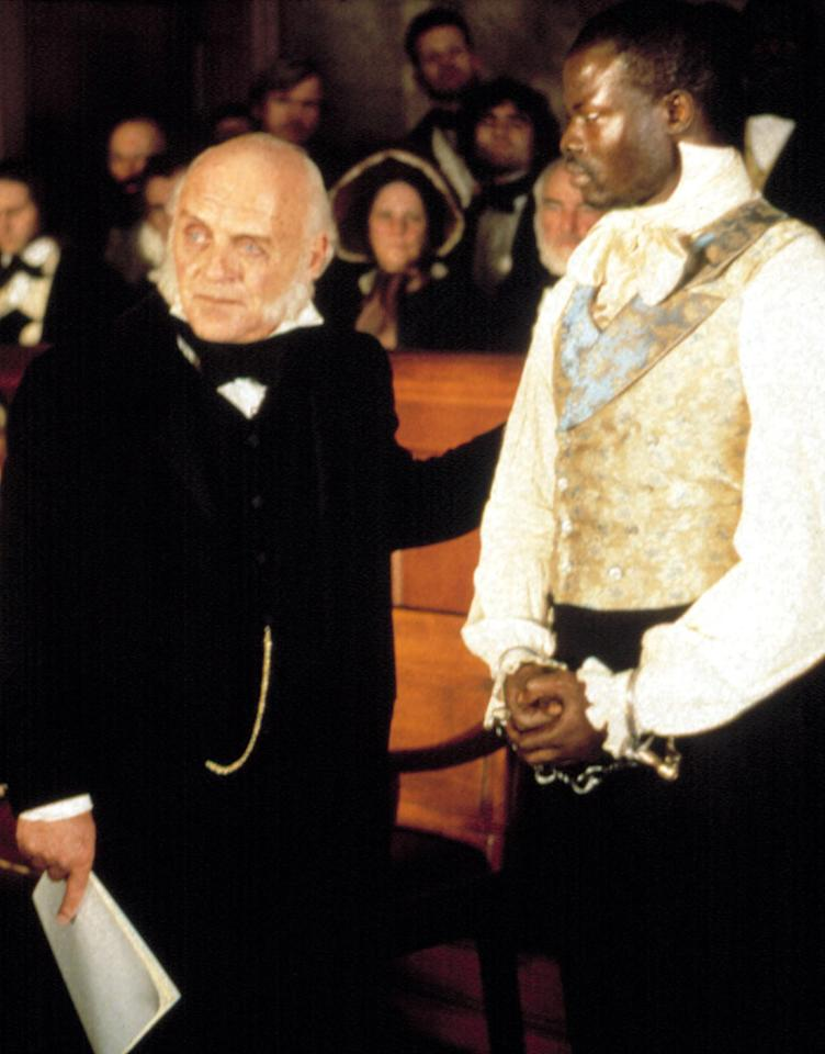 "Anthony Hopkins as John Quincy Adams in 1997's ""Amistad"""