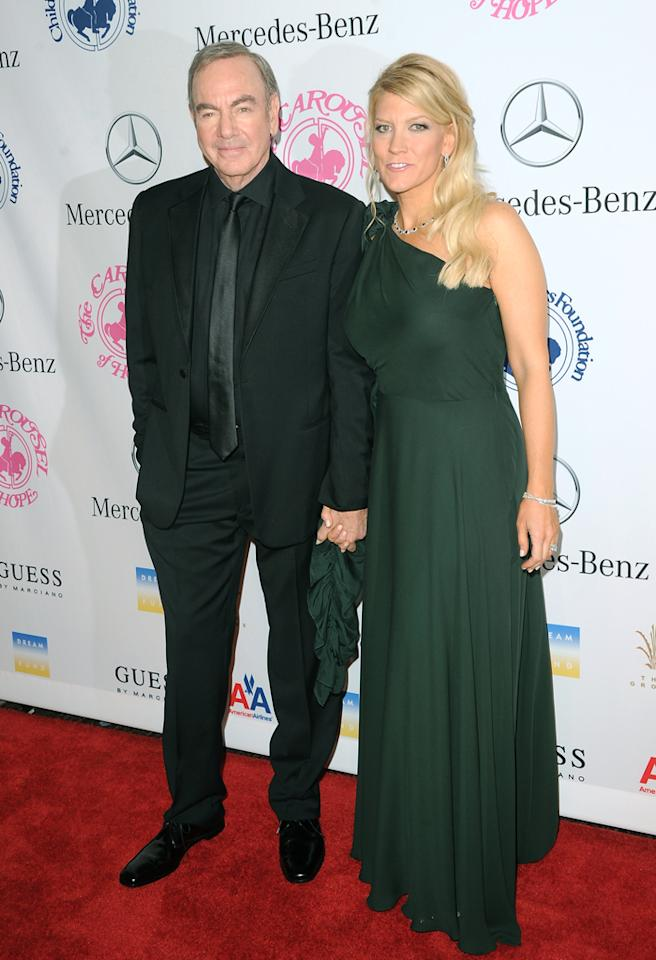 BEVERLY HILLS, CA - OCTOBER 20:  Singer Neil Diamond and wife Katie McNeil arrives at the 26th Anniversary Carousel Of Hope Ball presented by Mercedes-Benz at The Beverly Hilton Hotel on October 20, 2012 in Beverly Hills, California.  (Photo by Jason Merritt/Getty Images)