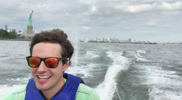 PHOTO: David Pike rides a jetski to his job in Manhattan from Jersey City every morning to avoid traffic. (ABC News)