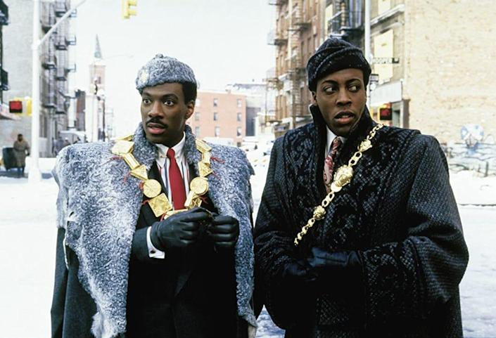 """Eddie Murphy and Arsenio Hall in """"Coming to America."""""""