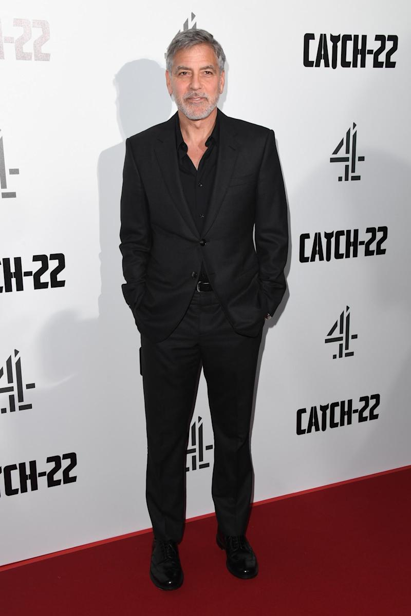 George Clooney attends the Catch 22 UK premiere in May 2019 (Getty Images)