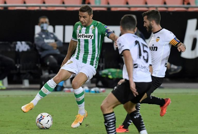 Real Betis go top of La Liga after win over Valencia