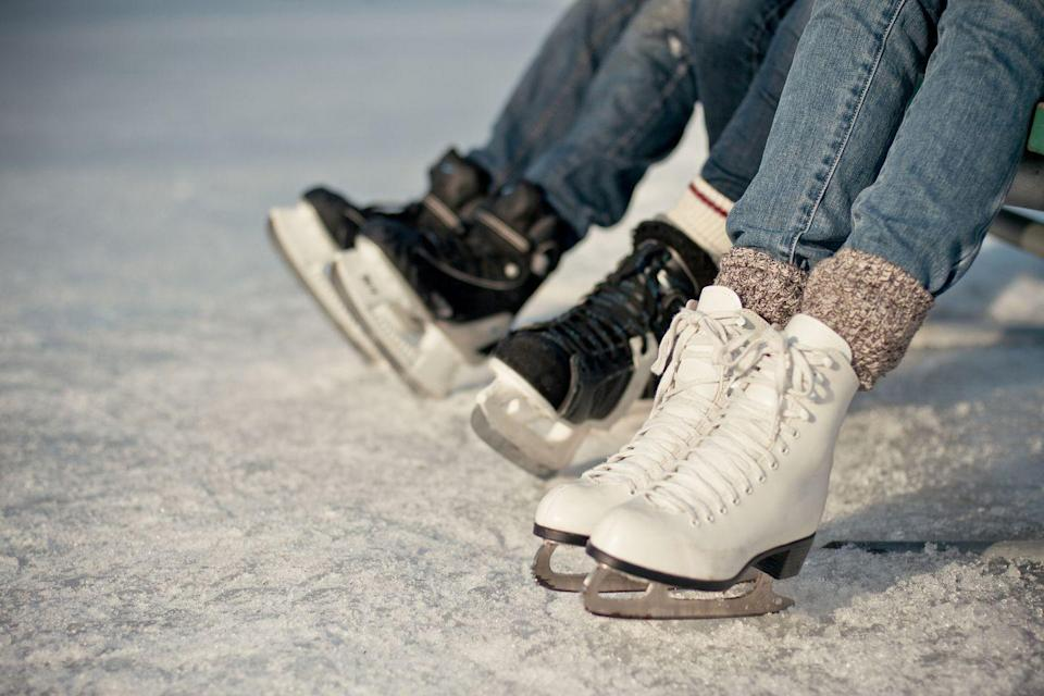 <p>For a solid cold-weather good time, look for an outdoor, socially distanced ice skating rink in your area. This one is a classic for a reason!</p>