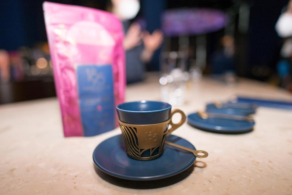 Cup of coffee on tasting bar of the Coffee Factory, Turin, Italy (Getty Images for Lavazza)
