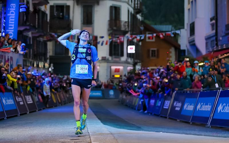 Tom Evans winning the Courmayeur Champex Chamonix earlier this year