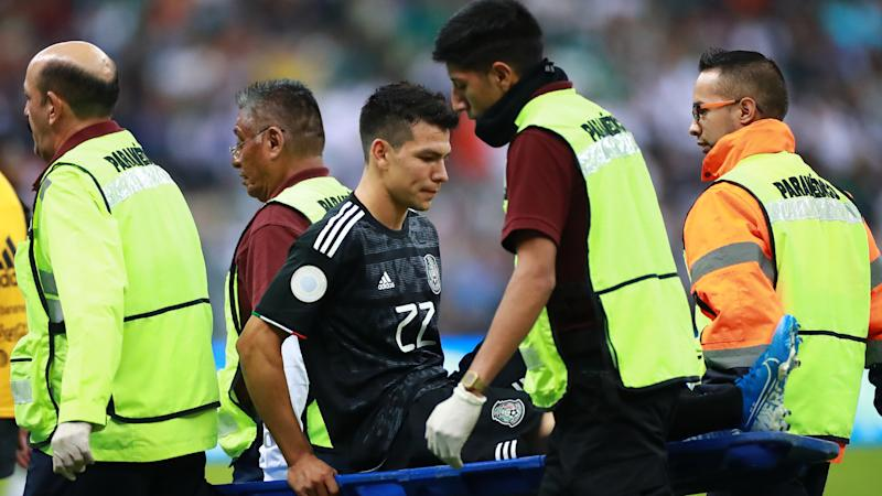 Napoli and Mexico star Lozano taken off injured against Panama