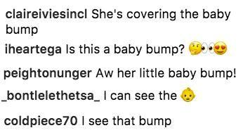 Many thought they spotted a hint of a baby bump. Source: Instagram