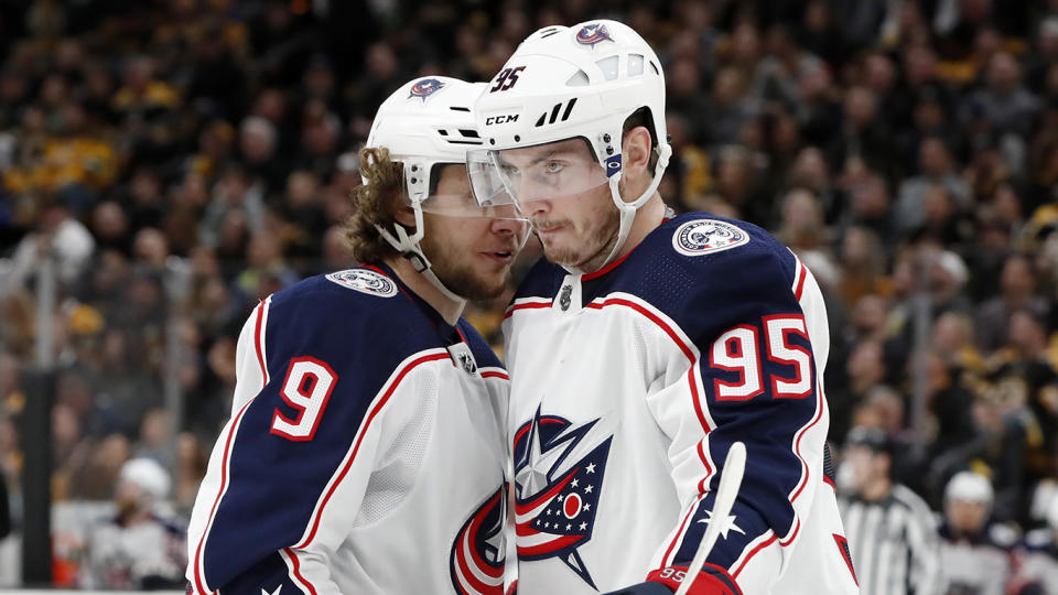 Panarin, left, and Duchene, right, were two of the stars the Blue Jackets lost in free agency.