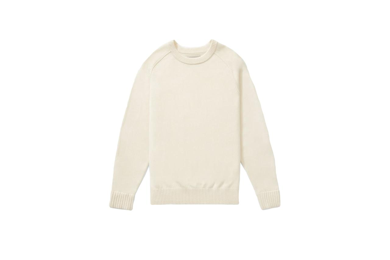 "$98, Everlane. <a href=""https://www.everlane.com/products/mens-recashmere-crew-sweater-bone?collection=mens-today-only-sale"">Get it now!</a>"