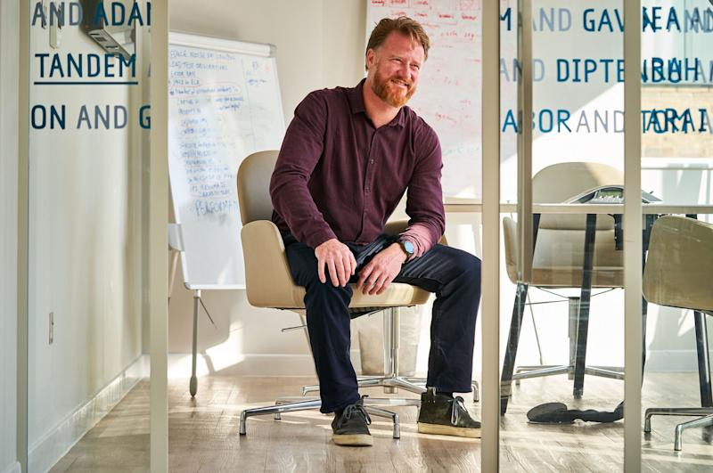 Tandem Bank CEO Ricky Knox in the startup's new offices. Photo: Simon Jacobs
