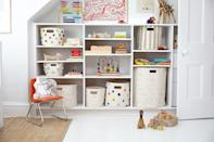 """<p>If you live in a house with kids, <a href=""""https://www.goodhousekeeping.com/home/organizing/g23781432/toy-organization-storage/"""" rel=""""nofollow noopener"""" target=""""_blank"""" data-ylk=""""slk:toy organization"""" class=""""link rapid-noclick-resp"""">toy organization</a> is a constant challenge. And even within the realm of toys, there's no bigger problem than stuffed animal storage. Those stuffies are bulky, so they take up a lot of room. If you dump them all in a pile, the ones at the bottom never get seen or played with. And kids just seem to keep on acquiring more and more of them, so it's hard to keep the collection at bay. It's a constantly-evolving struggle.</p><p>When you're looking for good stuffed animal storage, a few things are key: First off, you want something that'll keep the loveys off the floor, so they don't get stepped on or tripped over. Then, it's ideal if your kids can see their collection, so they can easily find the fuzzy friend they're looking for. But you also don't want to devote too much space to stuffed animals. </p><p>These clever stuffed animal storage ideas can work no matter how much room you have. Some will easily contain little collections and display them on the walls. Others are more serious — more akin to furniture — but will hold more animals and look nice in a kid's room. And, if it's still too much, you can always talk to your child about <a href=""""https://www.goodhousekeeping.com/life/a34330608/where-to-donate-toys/"""" rel=""""nofollow noopener"""" target=""""_blank"""" data-ylk=""""slk:donating stuffed animals"""" class=""""link rapid-noclick-resp"""">donating stuffed animals</a> to a good cause.</p>"""