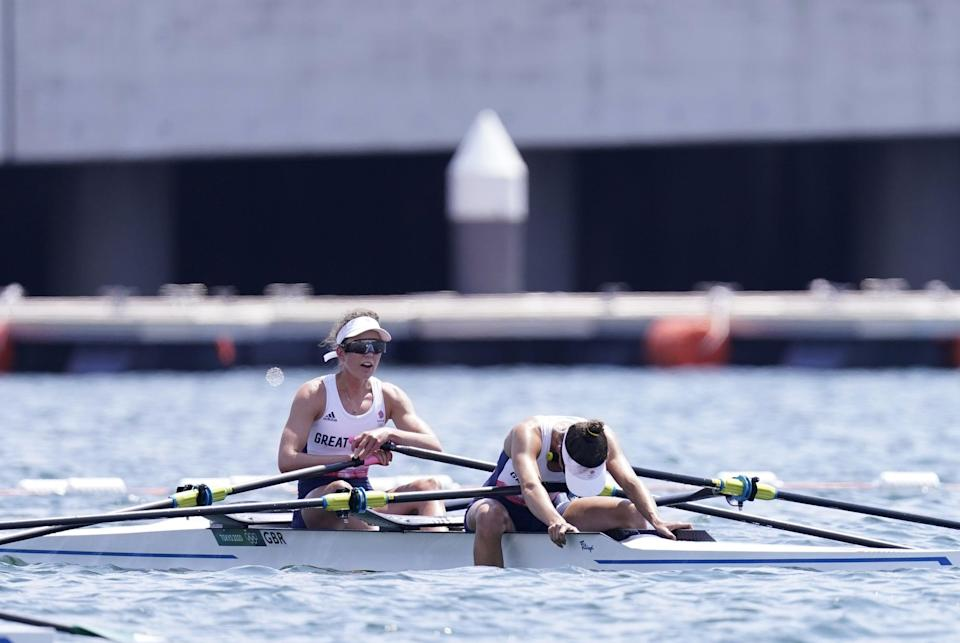 Emily Craig and Imogen Grant missed out on a medal by 0.01 seconds (Danny Lawson/PA) (PA Wire)