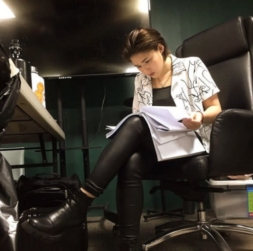 Going through the script for her new project