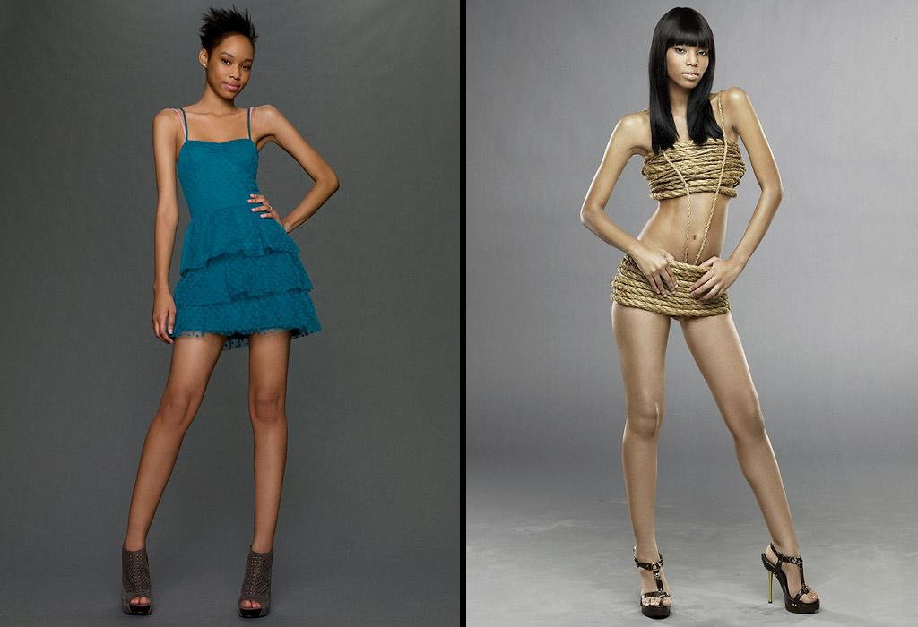 """Lulu gets a long, black weave with blunt bangs for her """"Ty-over"""" on Le Cycle 13 of <a href=""""/america-39-s-next-top-model/show/35130"""">""""America's Next Top Model.""""</a>"""
