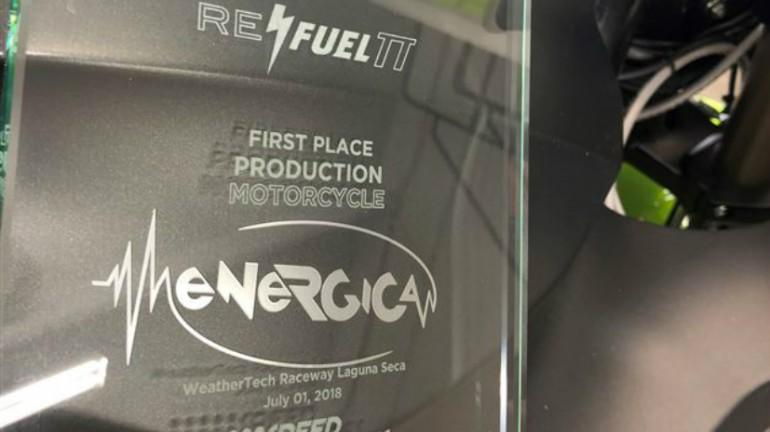 Not Only Did Energica Win They Beat Last Year S Lap Record By A Full Second