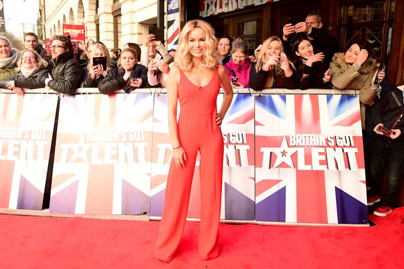 Amanda Holden arriving at the audition for Britain's Got Talent 2016 at the Dominion Theatre, London. PRESS ASSOCIATION Photo. Picture date: Friday 22nd January, 2016. Photo credit should read: Ian West/PA Wire.