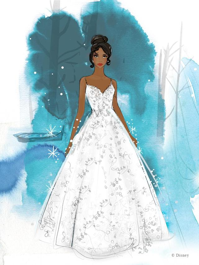 The Princess and the Frog star Tiana's gown will be available soon. (Photo: Disney)