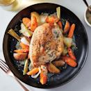 <p>Impress the in-laws, neighbors or any other dinner guests with this pretty dish. It's a slow-cooker chicken recipe that actually looks and tastes like it was oven-roasted. To save time, prep the vegetables a day ahead or in the morning, and then refrigerate until ready to brown the meat and start the slow cooker.</p>