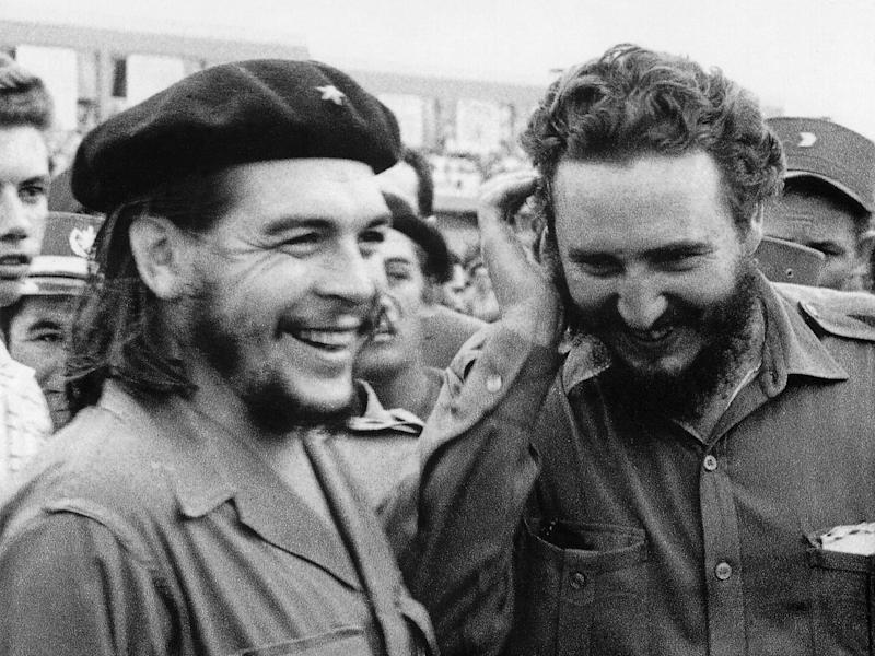 Argentine guerrilla leader Guevara, left, with Cuban Prime Minister Fidel Castro in the 1960s: Getty