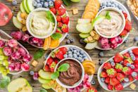 """<p>A <a href=""""https://www.thedailymeal.com/recipes/easy-homemade-hummus-recipe?referrer=yahoo&category=beauty_food&include_utm=1&utm_medium=referral&utm_source=yahoo&utm_campaign=feed"""" rel=""""nofollow noopener"""" target=""""_blank"""" data-ylk=""""slk:classic hummus recipe"""" class=""""link rapid-noclick-resp"""">classic hummus recipe</a> is one of those <a href=""""https://www.thedailymeal.com/cook/quick-dinner-dishes-you-can-make-out-cans-gallery?referrer=yahoo&category=beauty_food&include_utm=1&utm_medium=referral&utm_source=yahoo&utm_campaign=feed"""" rel=""""nofollow noopener"""" target=""""_blank"""" data-ylk=""""slk:scrumptious dishes you can make from cans"""" class=""""link rapid-noclick-resp"""">scrumptious dishes you can make from cans</a>. Break out the chickpeas and channel North Dakota by turning this classic dip into dessert hummus.</p>"""