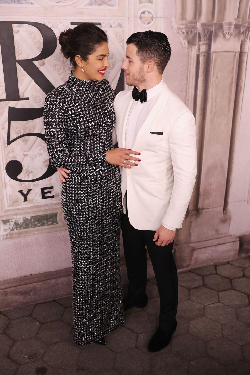 <p><strong>Age gap: </strong>10 years </p><p>Priyanka Chopra and Nick Jonas got married in 2018 after a whirlwind romance. The singer, who is 10 years Priyanka's junior, proposed after just two months of dating and they were married within the year. The couple first met at the 2017 Met Gala when they were both dressed by Ralph Lauren. </p>