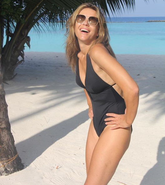 The model credits organic food and keeping active for her amazing figure. Photo: Instagram/elizabethhurley1