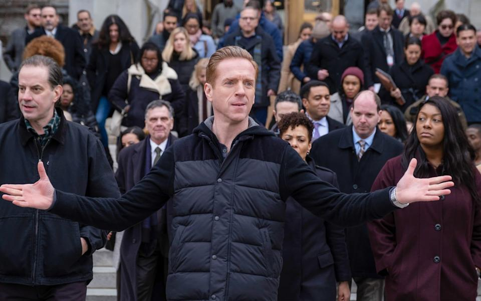 Lewis in the drama Billions, which is making its return to Sky - Showtime