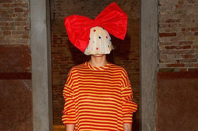 The public are used to seeing Sia hiding behind crazy wigs. Source: Getty