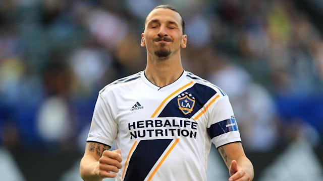 Nicolas Mezquida converted a late penalty to condemn Zlatan Ibrahimovic's LA Galaxy to their fourth consecutive MLS match without a win.