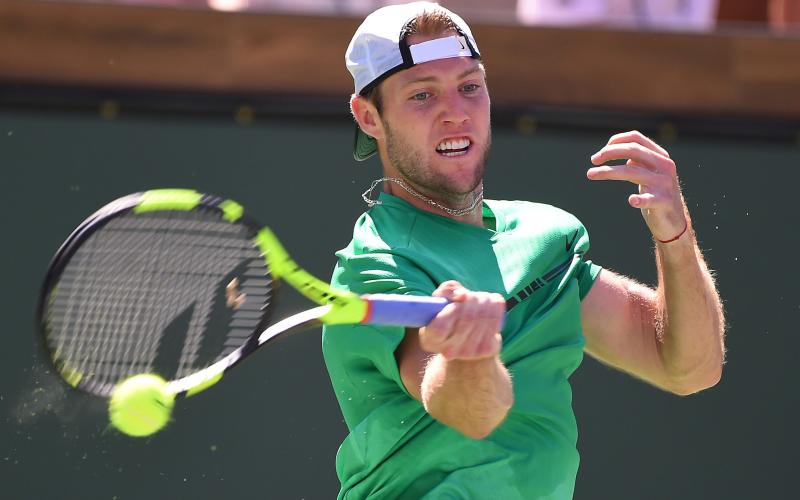 Jack Sock in action