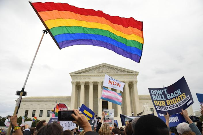 The US Supreme Court ruled in 2020 to extend anti-discrimination protections to LGBT+ Americans, but Congress is trying to enshrine those rights in statute. (AFP via Getty Images)