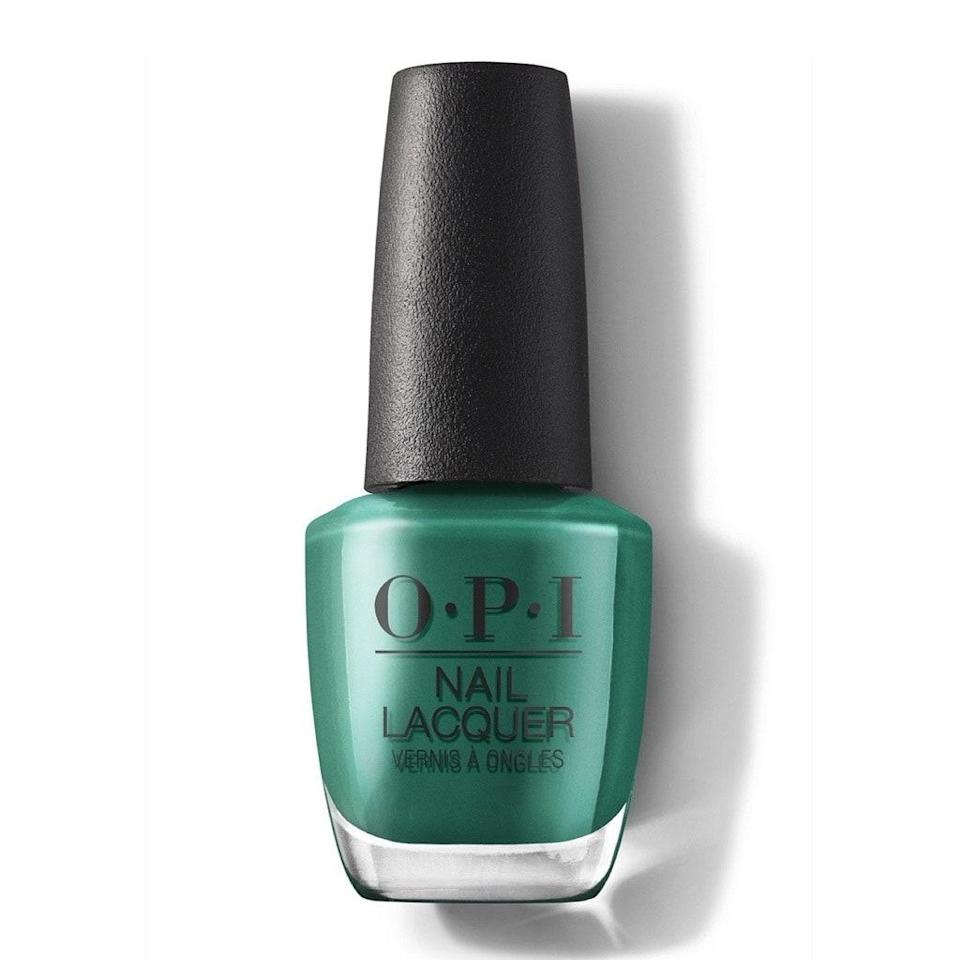 A rich, deep but not-too-dark emerald green like OPI's Rated Pea-G is truly perennial. In spring and summer, it reads lush and botanical; in fall and winter, it feels festive as the holidays approach. But no matter what month you wear this opaque jewel tone, it feels fresh and of-the-moment.