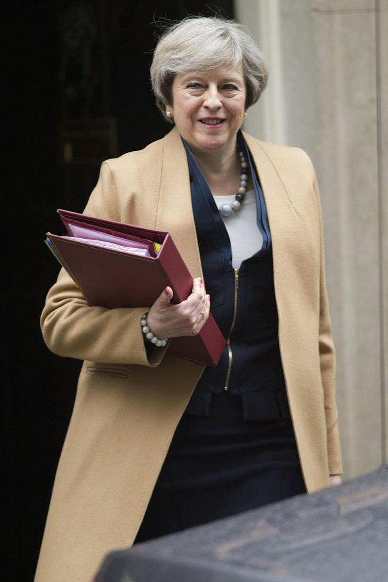 Britain's Prime Minister Theresa May leaves 10 Downing Street. (Jeremy Selwyn)