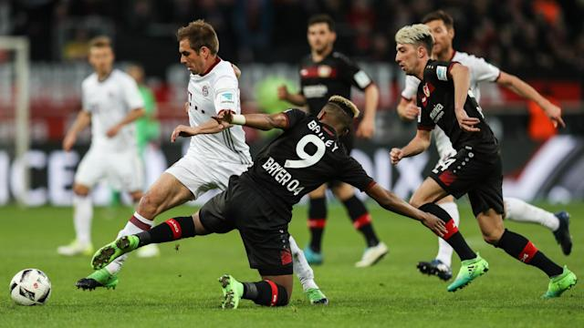 The Bayern boss saluted the defensive performance of 10-man Bayer Leverkusen after his side were held to a 0-0 draw