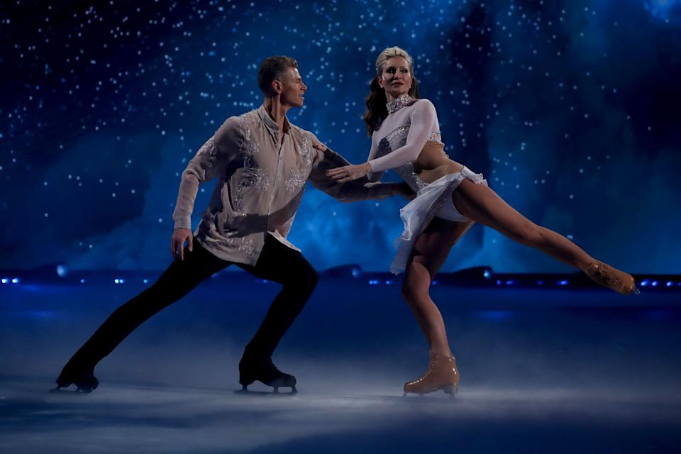 Hamish and Caprice during their first routine (Photo: Matt Frost/ITV/Shutterstock)