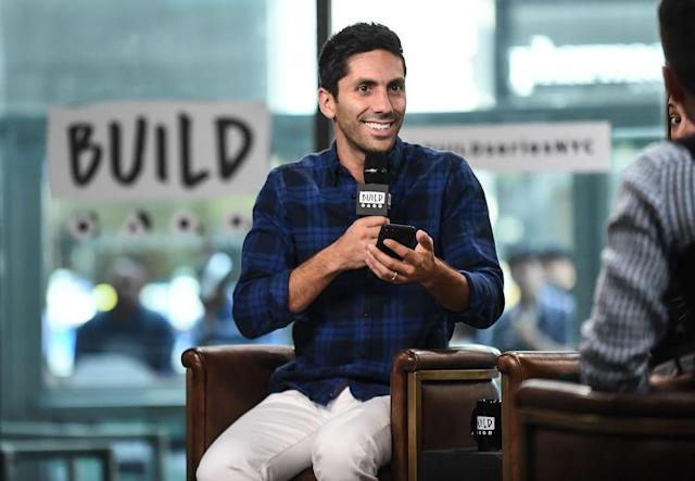 Nev Schulman talks <em>Catfish</em> at Build Series on August 31, 2017. (Photo: Daniel Zuchnik/WireImage)