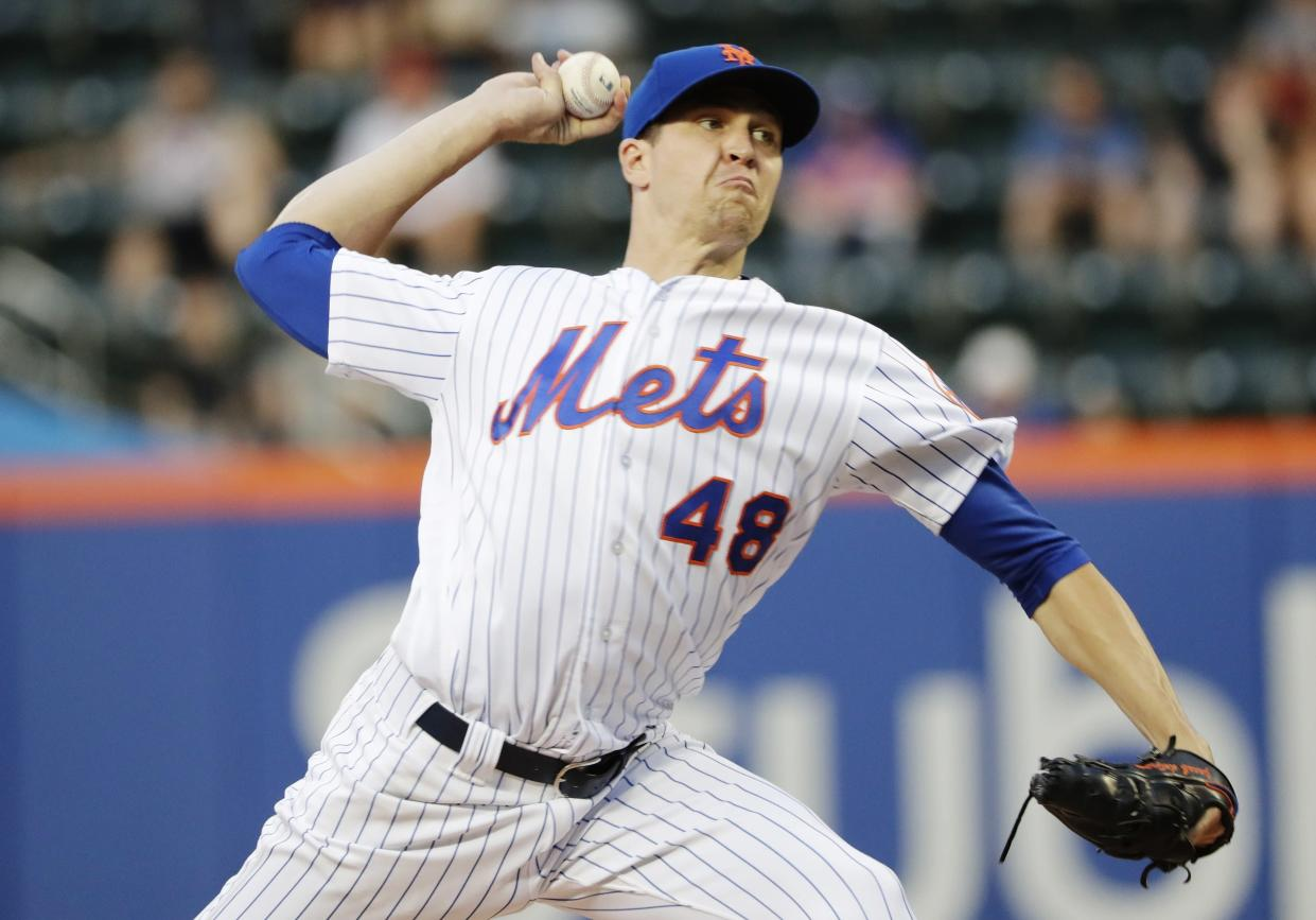 Baseball-Reference.com's version of Wins Above Replacement has Nola at 9.3, Scherzer at 8.4 and deGrom at 8.2. (AP)