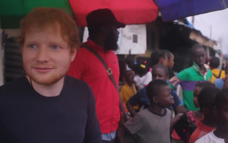 An emotional Ed Sheeran decides to help the group of young children from his own pocket