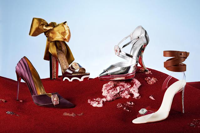 Christian Louboutin's collection for <em>Star Wars: The Last Jedi</em>. (Photo: Guillaume Fandel for Disney)
