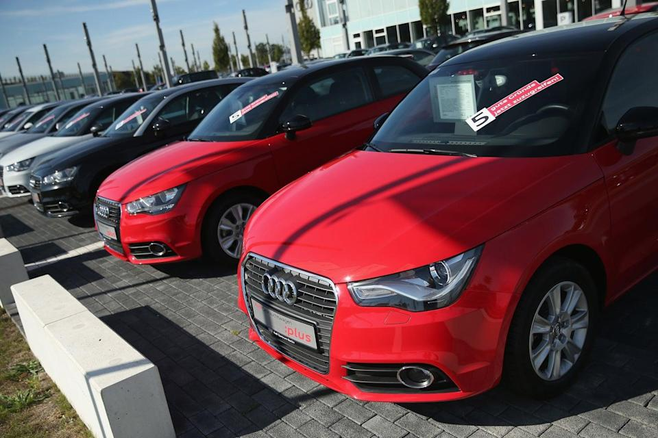 <p>Car dealerships have seen a boom in demand since the pandemic hit and people continue to avoid public transport in large numbers</p> (Getty )