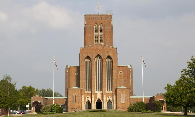 Guildford cathedral. Plans to develop houses on surplus land have failed.