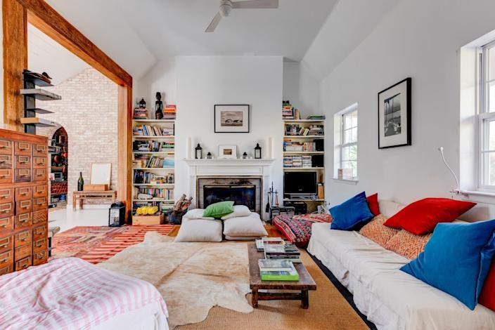 """<h2><a href=""""http://airbnb.pvxt.net/5XyG2"""" rel=""""nofollow noopener"""" target=""""_blank"""" data-ylk=""""slk:Nature Retreat"""" class=""""link rapid-noclick-resp"""">Nature Retreat</a></h2><br><strong>Summary:</strong> """"This space has a high ceiling kitchen with a skylight, a large stone wall, and wooden beams which opens to the living room. The separate dining area opens to the outdoor deck area.""""<br><br><strong>Location:</strong> Sagaponack, New York<br><strong>Sleeps: </strong>2<br><strong>Price Per Night: </strong>$450<br><br><strong><em><a href=""""http://airbnb.pvxt.net/5XyG2"""" rel=""""nofollow noopener"""" target=""""_blank"""" data-ylk=""""slk:Book Now"""" class=""""link rapid-noclick-resp"""">Book Now</a></em></strong>"""