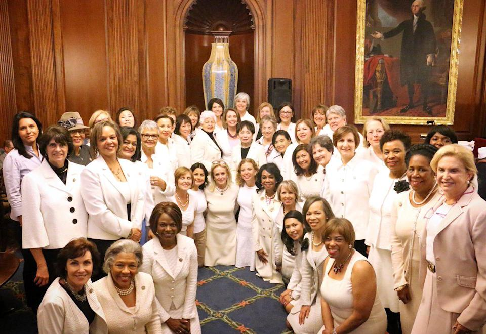 Democrat Women Wear White to President Trump's Joint Address in Support of Women's Rights