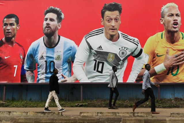 Cristiano Ronaldo, Lionel Messi, Mesut Ozil and Neymar are four of the Golden Ball favorites at the 2018 World Cup. (Getty)