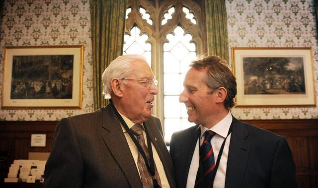 Ian Paisley takes his seat in the House of Lords
