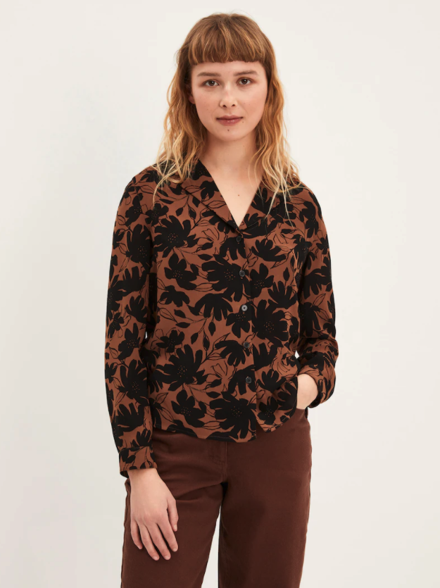 The Leaf Camp Collar Blouse. Image via Frank And Oak.
