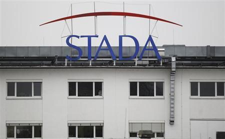 Logo of the pharmaceutical company Stada Arzneimittel AG is pictured at its headquarters in Bad Vilbel