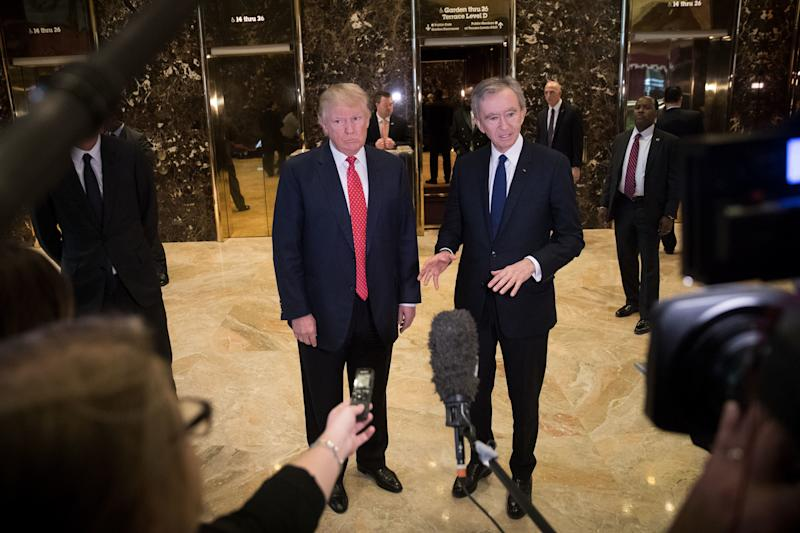 Then President-elect Trump met with Arnault at Trump Tower in January 2017.